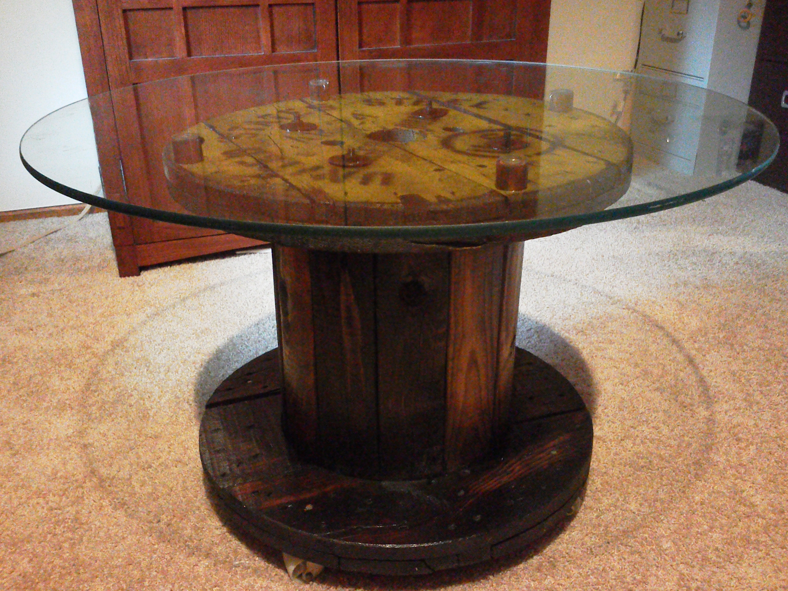Spool table for Large wooden spools used for tables